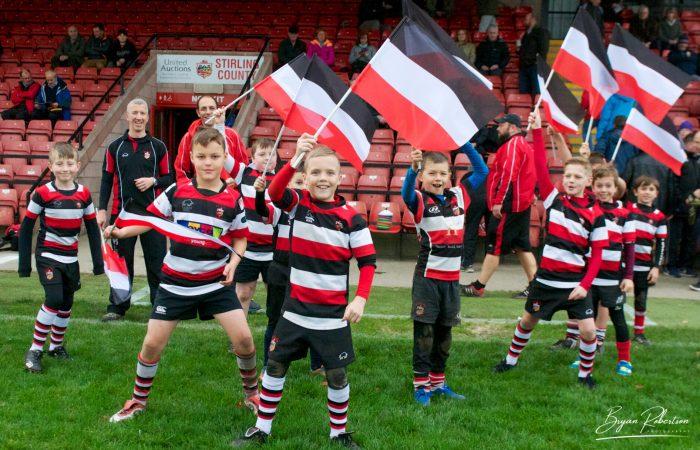 Minis flag waving
